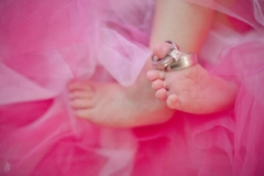 Newborn Baby Kyla | Baby Features Feet with Wedding Rings