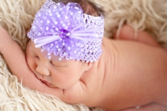 Newborn Baby Kyla | Purple Headband