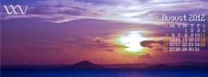 Desktop Calendar for August 2012 - Beautiful Sunset in Guimaras Strait Facebook Cover