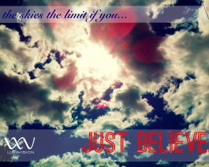 Free Desktop Calendar - Just Believe - The Sky & Sun 1280x1024