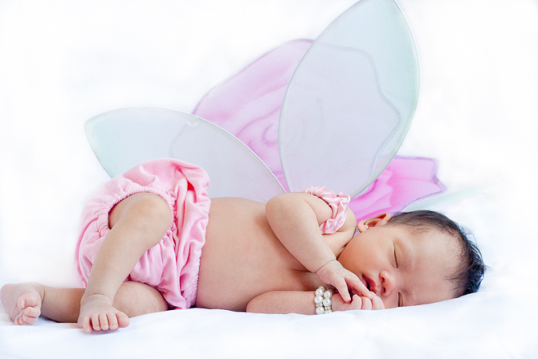 Newborn Baby Audrey with Butterfly Wings