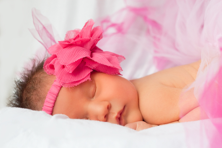 Newborn Baby Kyla with Pink Tutu