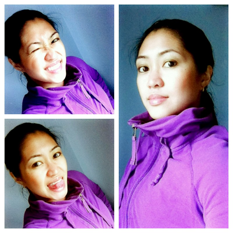 Liza Mae - Purple Sweater Collage