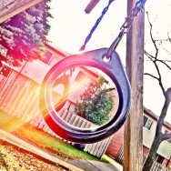 Playground Hanging Rings in the Fall
