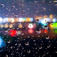 Raindrops & Bokeh Lights