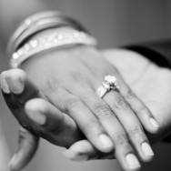 Engagement ring - Hand in Hand B&W