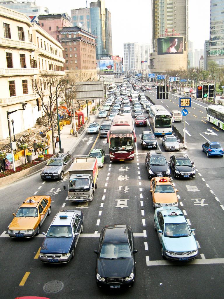 LuxaVision Photo a Day Blog | Traffic in Shanghai