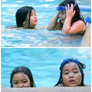 Filipino Girls Playing in the Pool - Mambukal Philippines