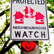 This Community is Protected by Neighbourhood Watch Sign - Toronto