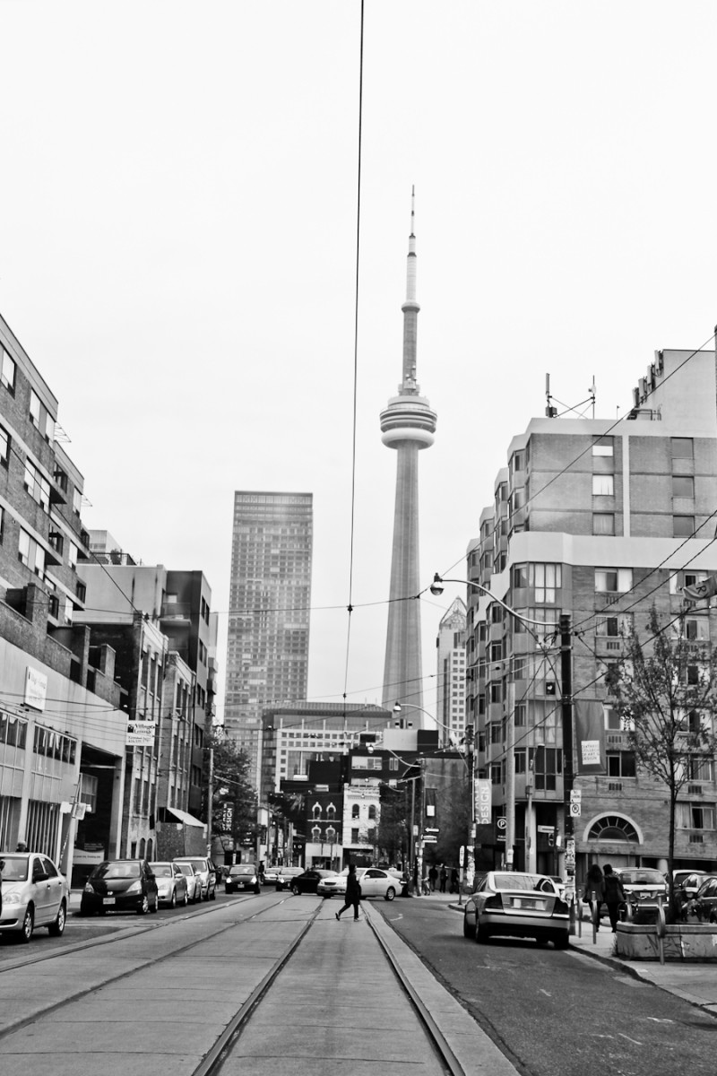 CN Tower from McCaul Street Toronto