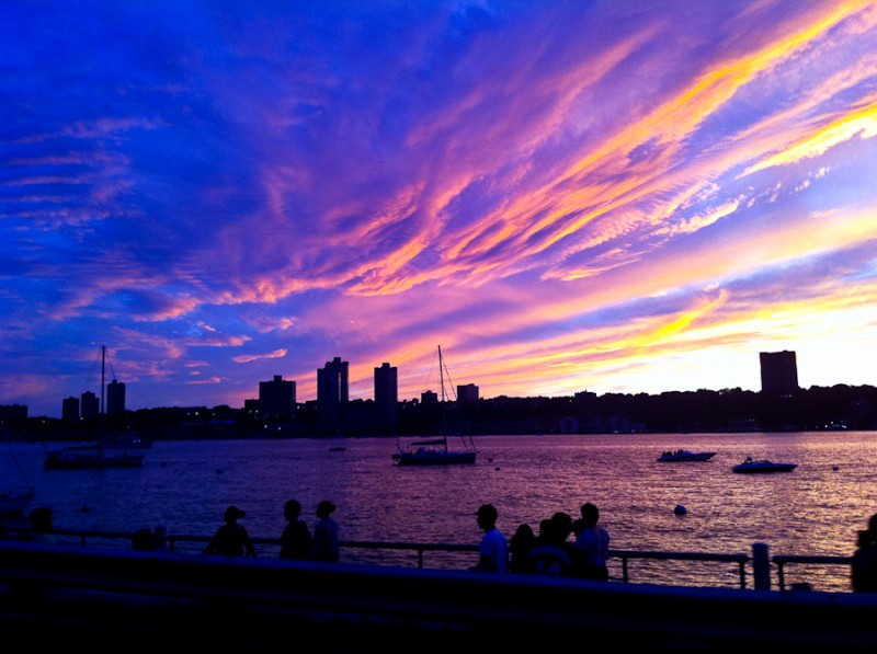 Sunset Over Water in New York City