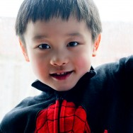 Boy in Spider Man Sweater