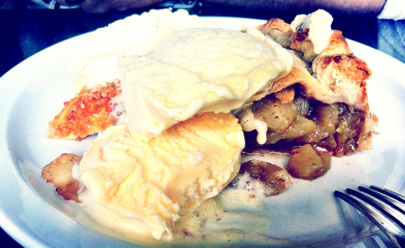 Apple Pie Alla Mode at Corned Beef House