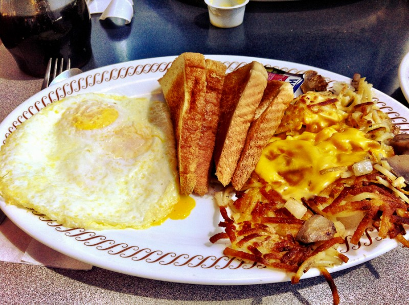 Allstar breakfast at Waffle House