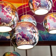 Salad King's Colourful Trendy Light Fixtures