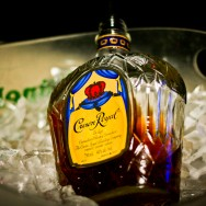 Crown Royal Bottle on Ice