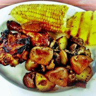 BBQ Feast - Chicken, Corn, and Pineapple