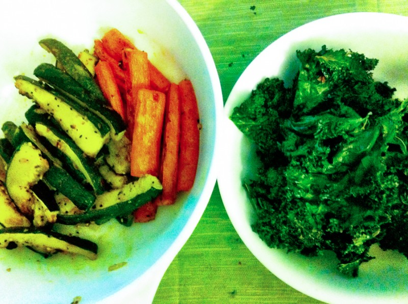 Kale Chips Baked Carrots & zucchini