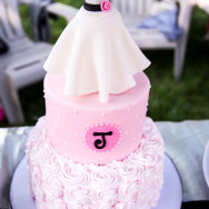 Bridal Shower Cake | Dress Decor