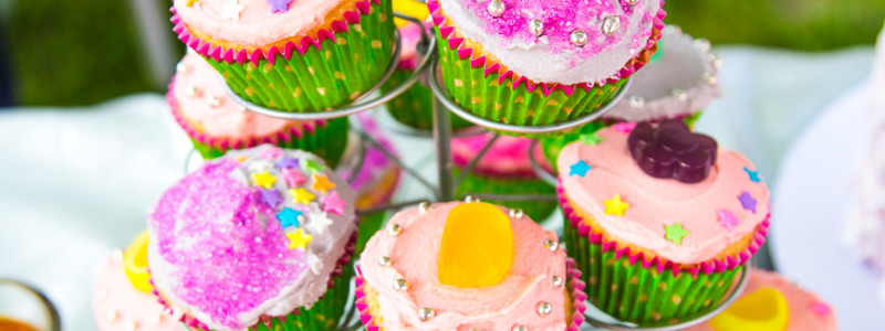 Colorful Mixed Cupcakes