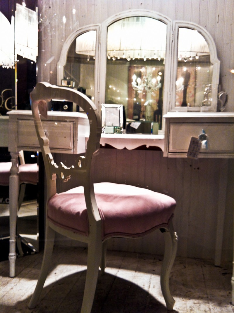 vintage makeup table chair photo a day line a day